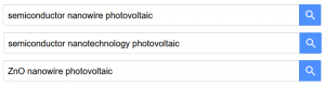 Multiple searhes in Google Scholar each using different keywords