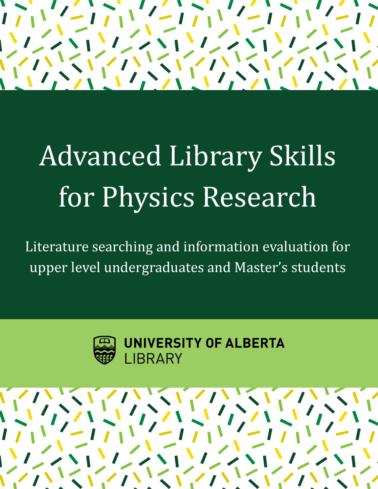 Cover image for Advanced Library Skills for Physics Research