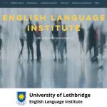This picture shows the homepage of the English Language Institute Open Educational Resources Website that this picture links to