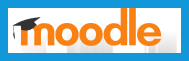 The picture shows the open-source Moodle logo.