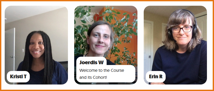 This pictures shows the 3 facilitators of this course