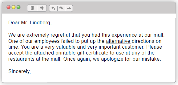Apology email 4