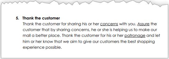 Handling customer complaints, page 3