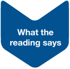 What the reading says