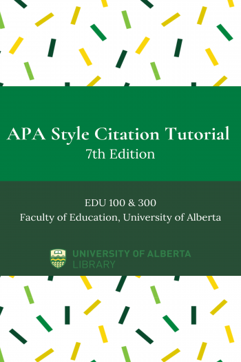 Cover image for APA Style Citation Tutorial