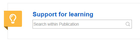 Support for Learning Journal and search box