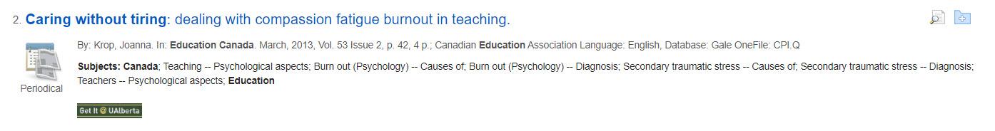 Education Canada Record