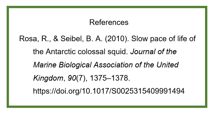 Reference list citation