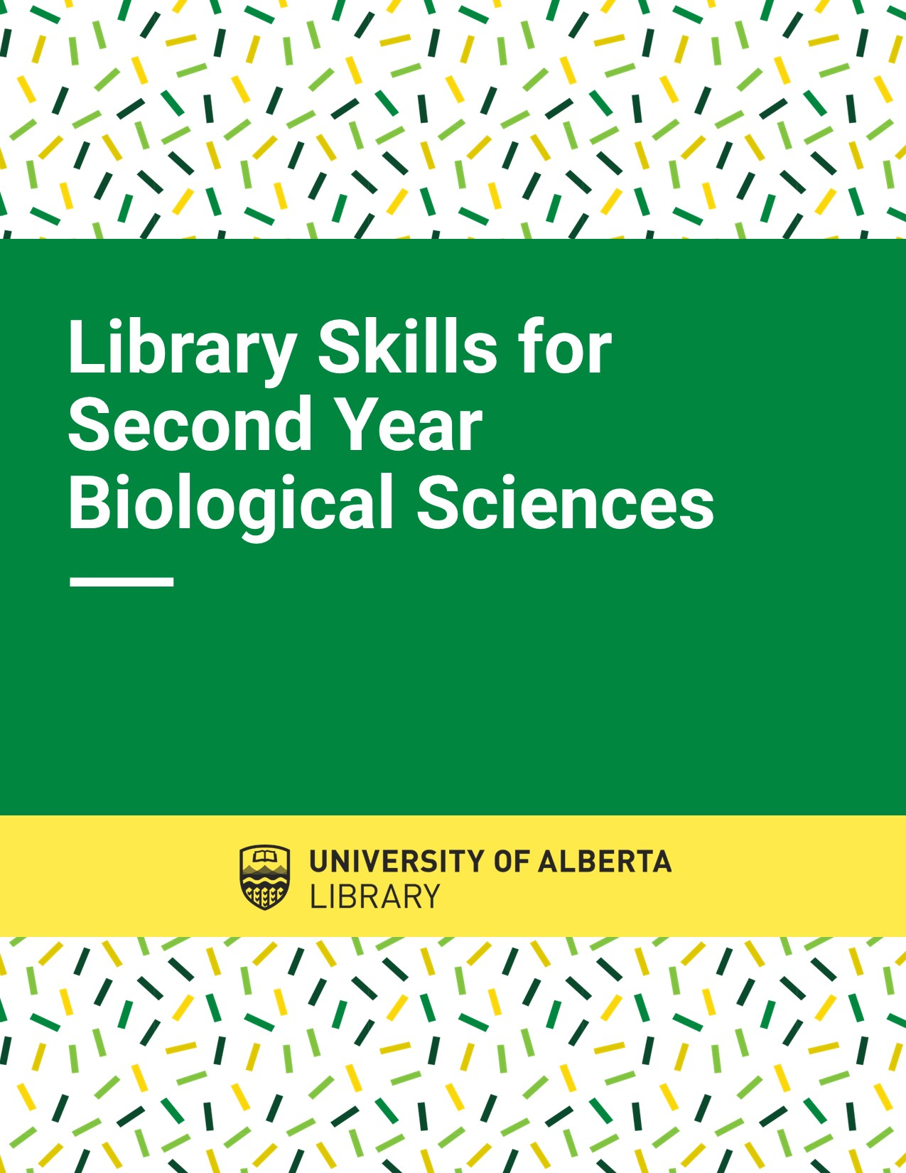 Cover image for Library Skills for 2nd Year Biological Sciences