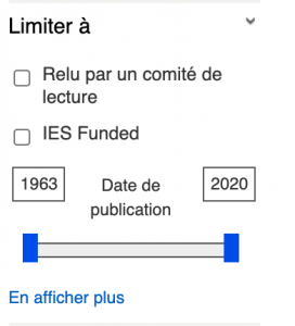 Affiner les résultats par date de publication