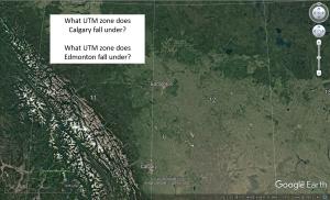 Figure T11: Universal Transverse Mercator (UTM) zones 11 U and 12 U in Alberta.