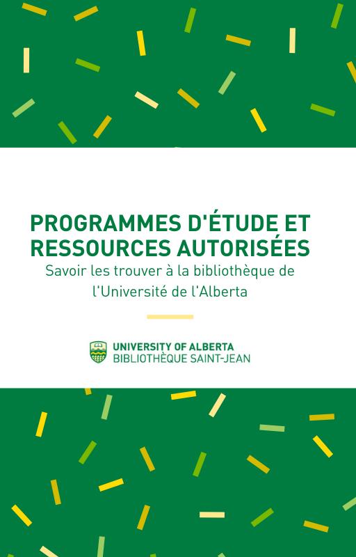 Cover image for Programmes d'étude et ressources autorisées
