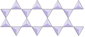 Two rows of triangles joined together