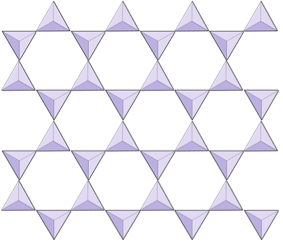 Multiple rows of triangles joined together
