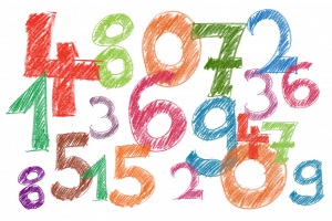 collage of numbers (0 - 9)