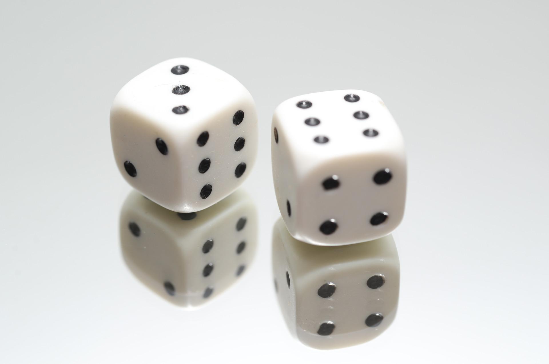 dice (three and six)