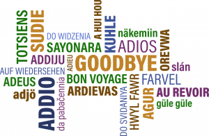 word map of goodbye in different languages