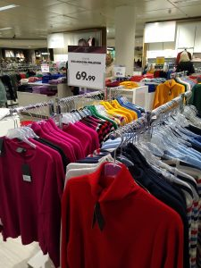 """Picture from a """"Kaufhaus"""" - sweater section"""
