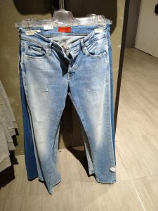 """Picture from a """"Kaufhaus"""" - jeans section"""