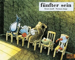 stuffed animals with injuries in a waiting room (book cover)