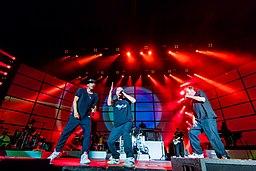 rock group Die Fantastischen Vier in concert