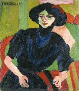 Ernst Ludwig Kirchner (1880-1938): Portrait of a woman