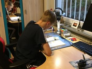 Tim studying