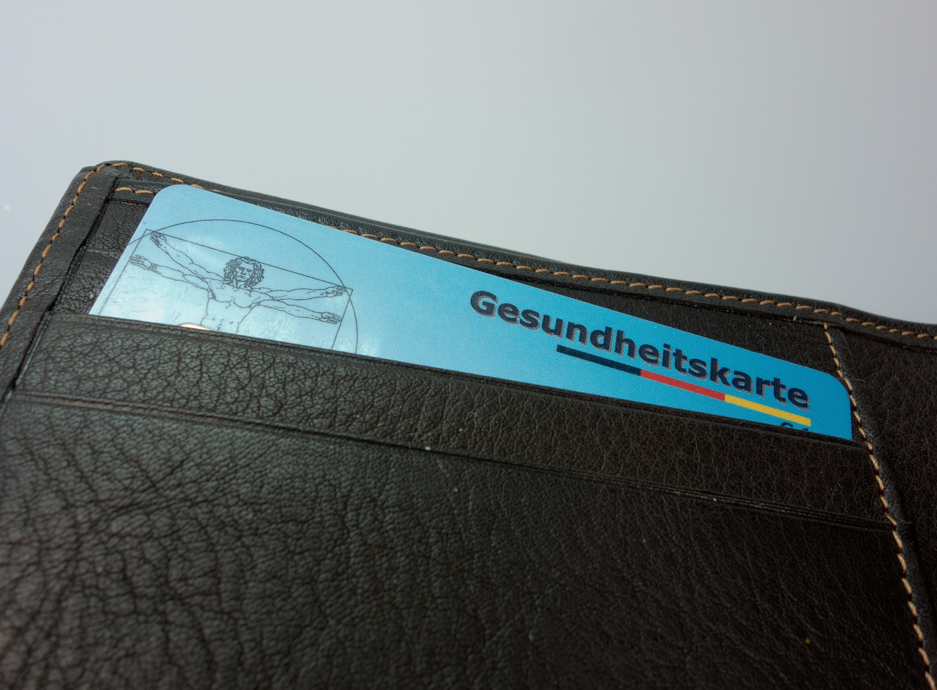wallet with health card